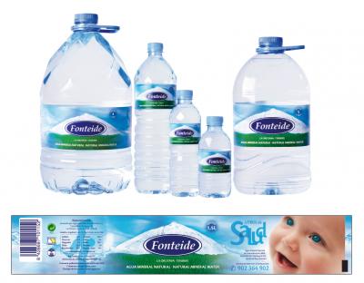 Etiquetas de Agua Mineral Natural Fonteide