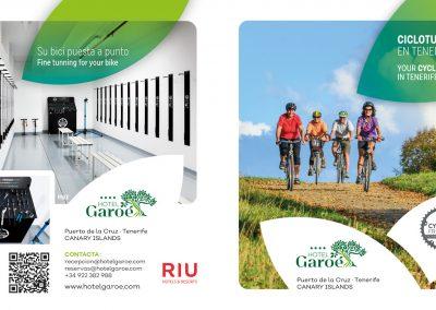 Folleto promoción Cicloturismo para Hotel Garoé