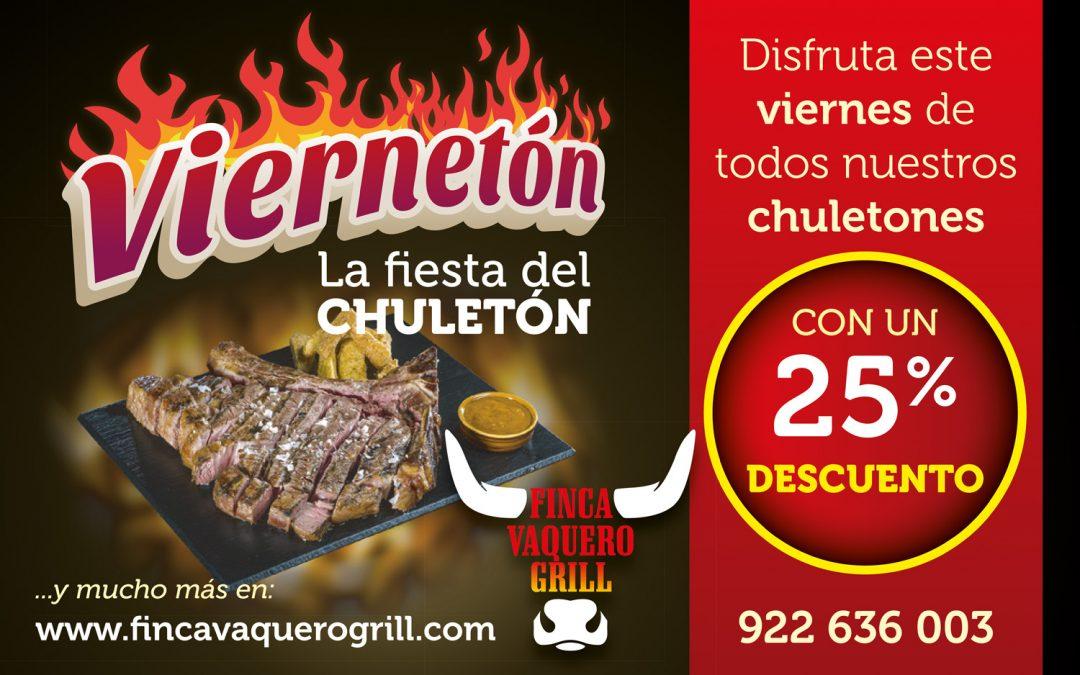 """Promoción """"Viernetón"""" para Finca Vaquero Grill"""