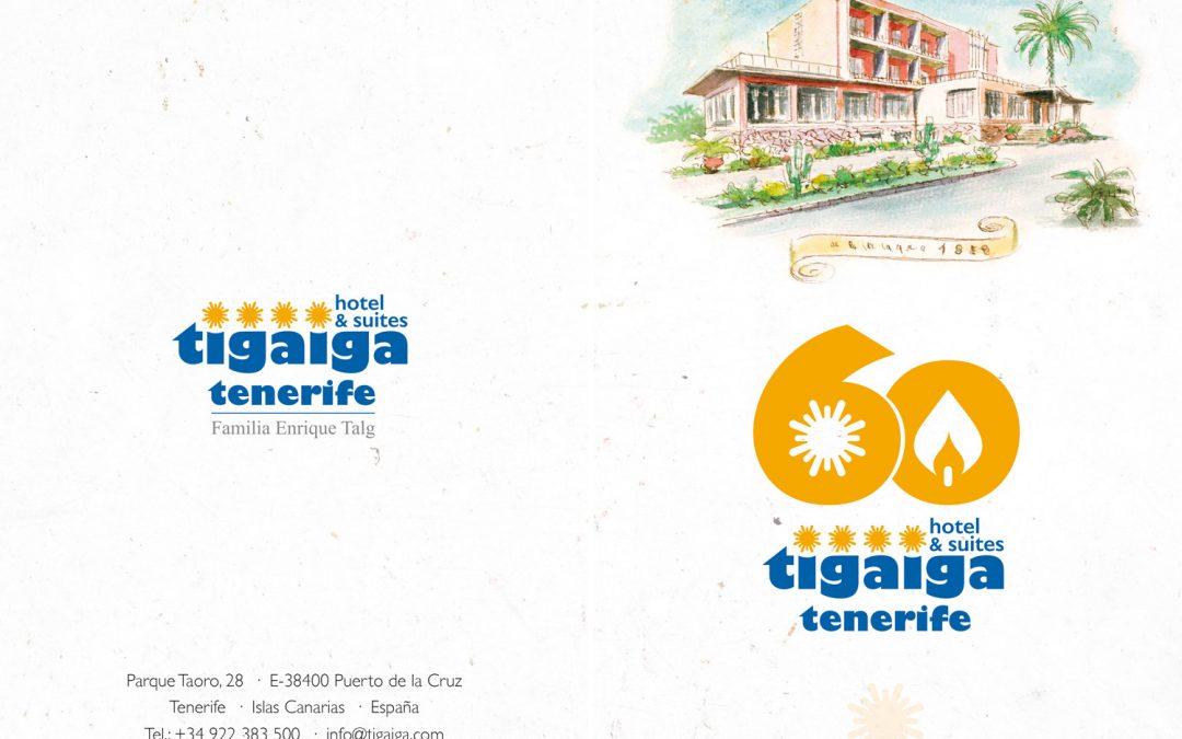 Folletos dípticos 60 aniversario Hotel Tigaiga